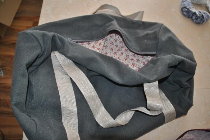 sac de sport gris