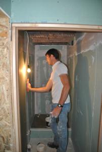 Démarrage du chantier salle de bain (douche)